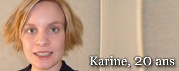 Karine, 20 ans | AVEP - Victimes