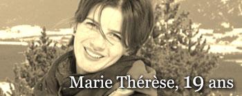 Marie Thérèse, 19 ans | AVEP - Victimes